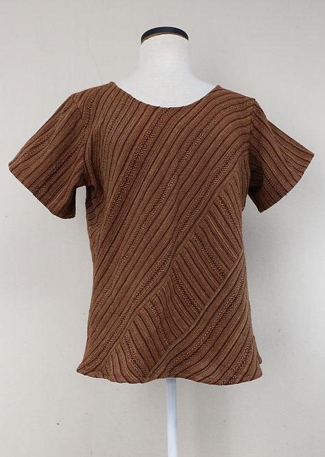 Brown Butterfly | Bias Cut Shirt