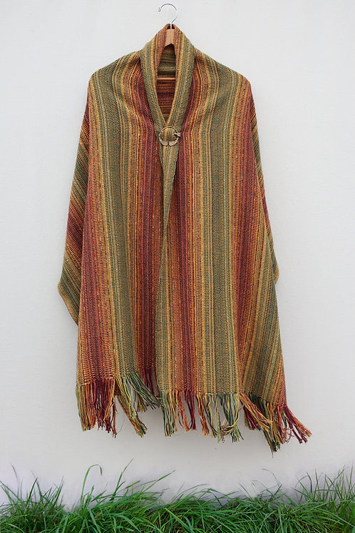 Brandy Autumn Leaves Rectangle Shawl
