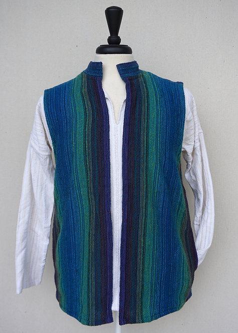 Peacock Chenille   Collared Vest