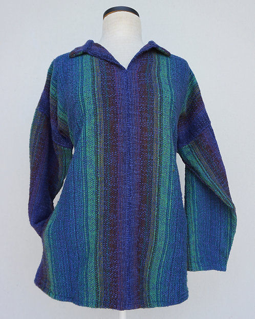 Peacock Chenille Arming Shirt with Pockets