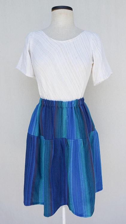 Blue Peacock Short Skirt