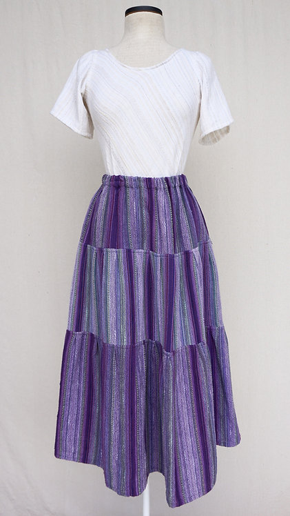Lavender Fields Three Tiered Skirt