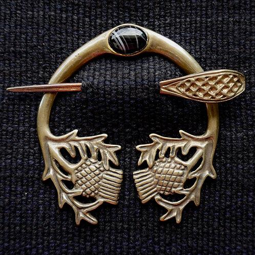 Thistle | Brooch, Sardonyx
