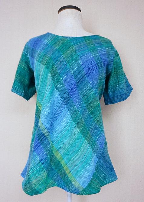 Turquoise Delight | Bias Cut Shirt