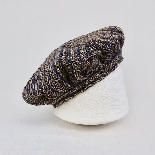 Navy Brown Butterfly | Hat