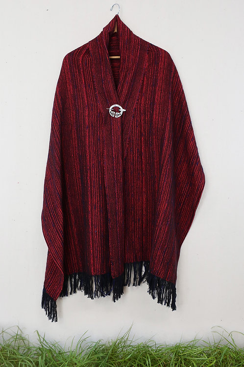 Scarlet Tanager | Rectangle Shawl