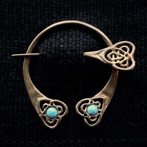 Heart | Brooch, Denim Lapis Lazuli