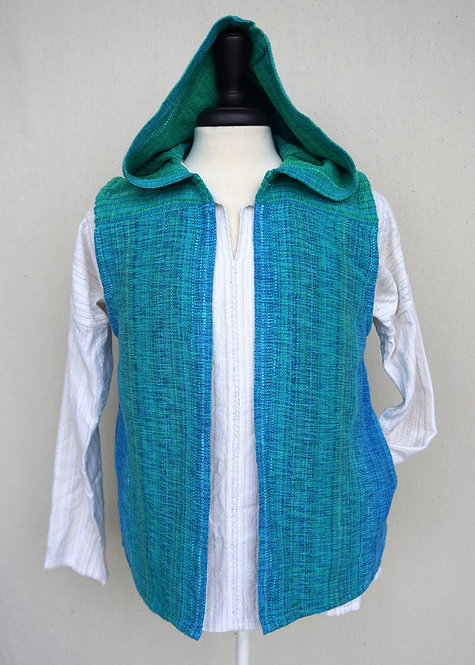 Turquoise Delight Hooded Vest