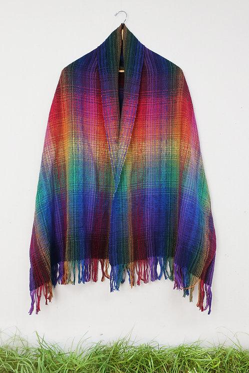 Double Rainbow | Rectangle Shawl