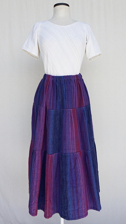 Blue Berries Three Tiered Skirt