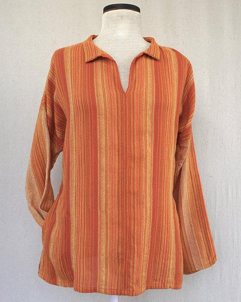 Deep Orange Sunflower | Arming Shirt with Pockets