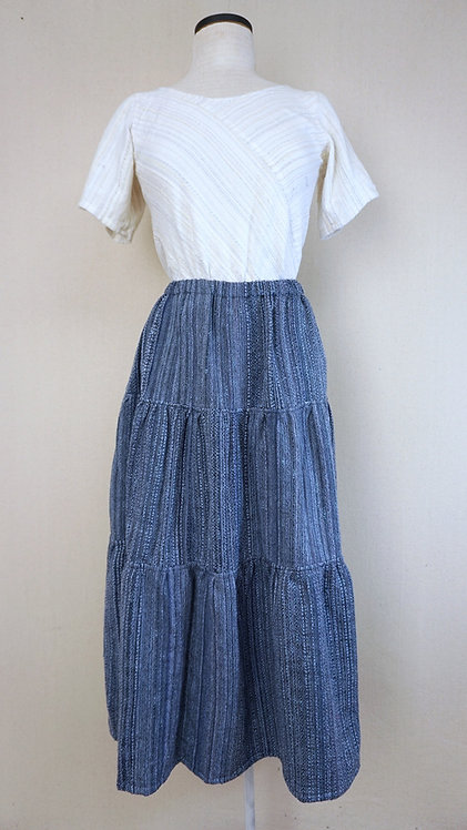 Indigo Sky | Three Tiered Skirt