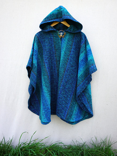 Blue Peacock | Mini Ruana
