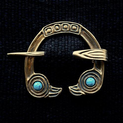 Freya's Falcon | Brooch, Denim Lapis Lazuli