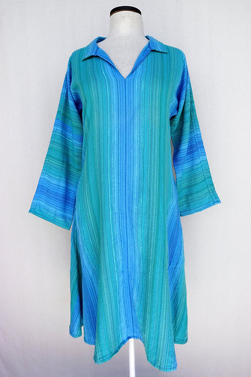 Turquoise Delight | Tunic, Collared