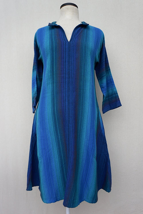 Blue Peacock Tunic, Collared