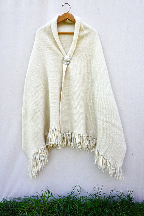 Pearl Home Grown Wool Shawl
