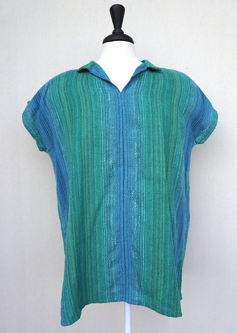 Turquoise Delight Collared Shirt