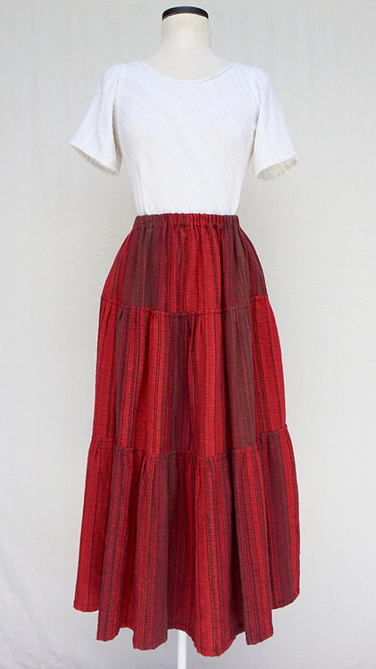 Cardinal Three Tiered Skirt