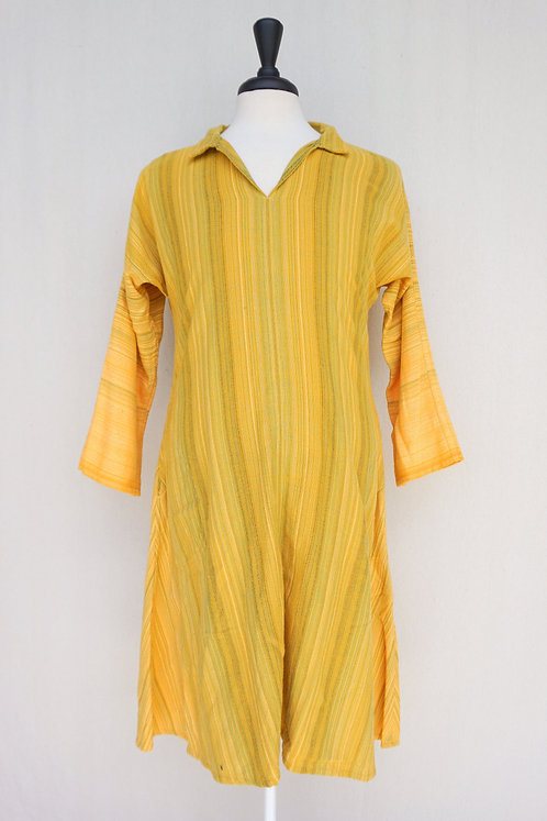 Yellow Sunflower Tunic, Collared