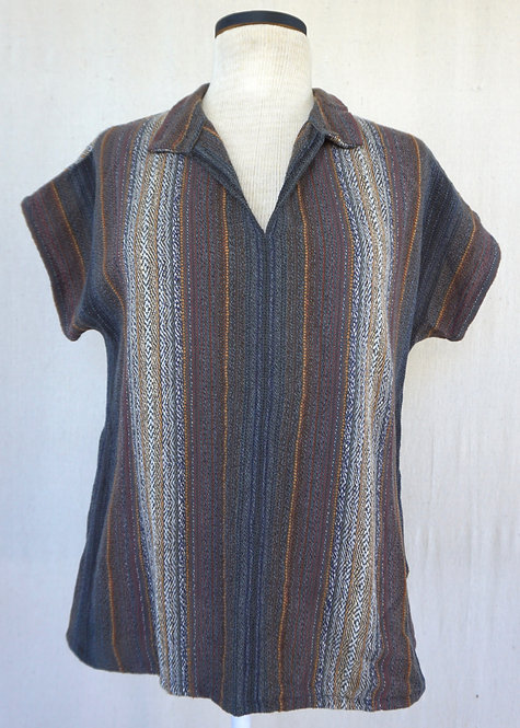 Grey Agate Collared Shirt with Pockets