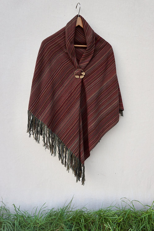 Red Maple | Square Shawl