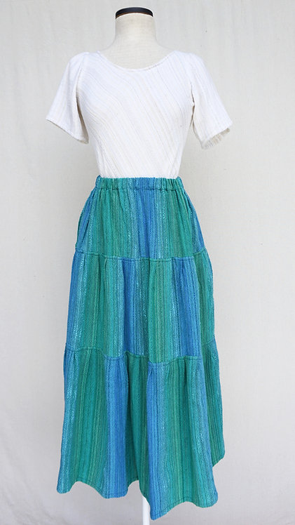 Turquoise Delight | Three Tiered Skirt