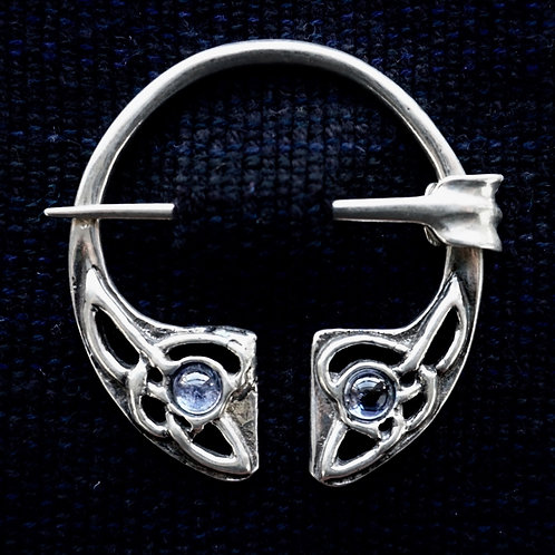 Irish Knot Brooch, Tanzanite
