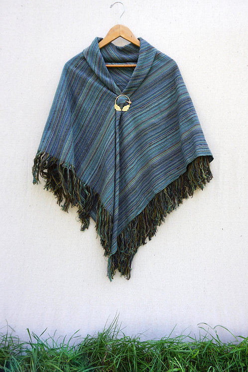 Sky Through Branches Square Shawl