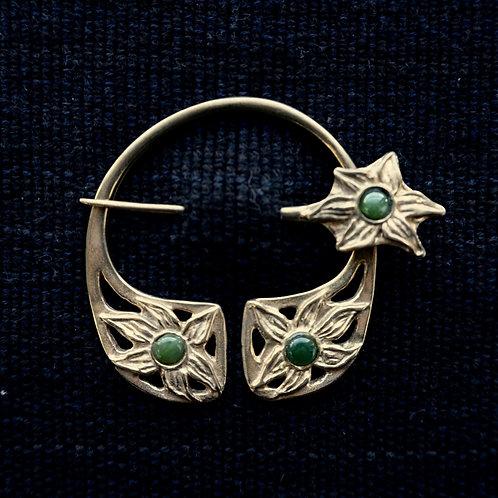 Lily Brooch, Nephrite Jade