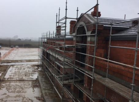 Construcción, también bajo la lluvia