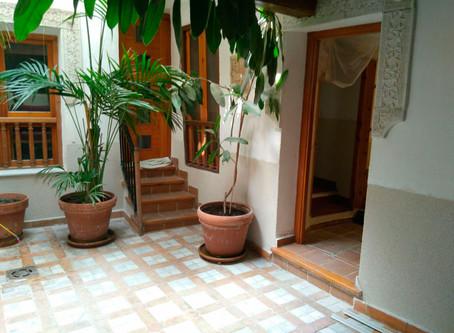 Obras de rehabilitación en Patio Toledano en Cuesta de San Justo