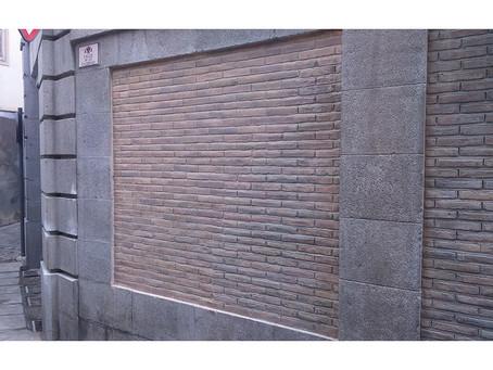 Restauración de ladrillo blanco en el edificio Banco de España Toledo