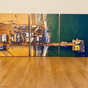 Santa Monica Pier Triptych