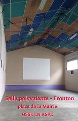 Fronton, salle polyvalente à Osse en Aspe