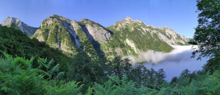 Aulet > col d'Yseye > lac du Montagnon
