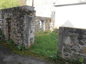 mur d'entrée du gîte