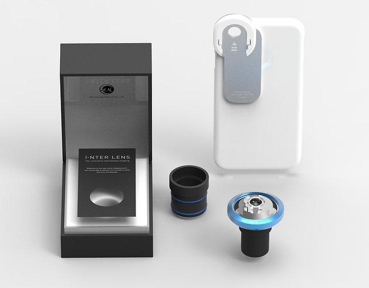 顕微鏡用iPhone取り付けレンズ_i-NTER LENS_5点1式