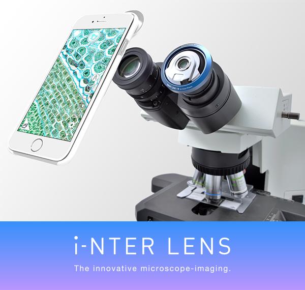 顕微鏡用iPhone取り付けアダプターinterlens_1
