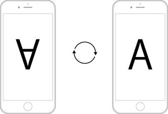 iPhoneによる顕微鏡撮影をサポート_i-NTER LENS専用アプリ[i-NTER SHOT]_画面反転