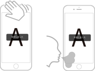 iPhoneによる顕微鏡撮影をサポート_i-NTER LENS専用アプリ[i-NTER SHOT]_タッチレス操作2