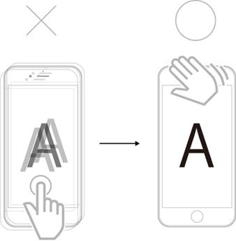 iPhoneによる顕微鏡撮影をサポート_i-NTER LENS専用アプリ[i-NTER SHOT]_タッチレス操作1