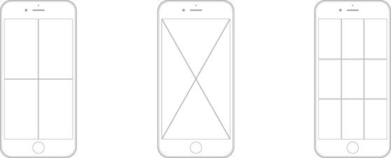 iPhoneによる顕微鏡撮影をサポート_i-NTER LENS専用アプリ[i-NTER SHOT]_グリッド表示