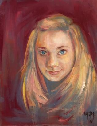 "11"" x 14"", oil on canvas"