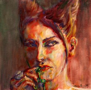"12"" x 12"", oil on canvas"