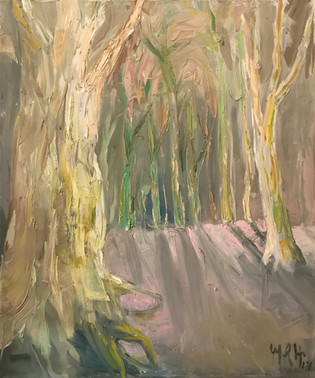 "30"" x 36"", oil on canvas"