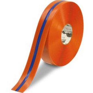 """2""""x100' Orange Floor Tape w/ Blue Strip"""