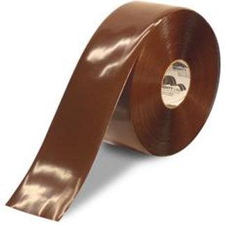 """6""""x100 Mighty Line Brown Floor Tape"""