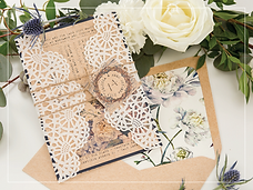 rustic florl invitation