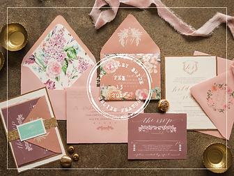 vintage floral invitation suite